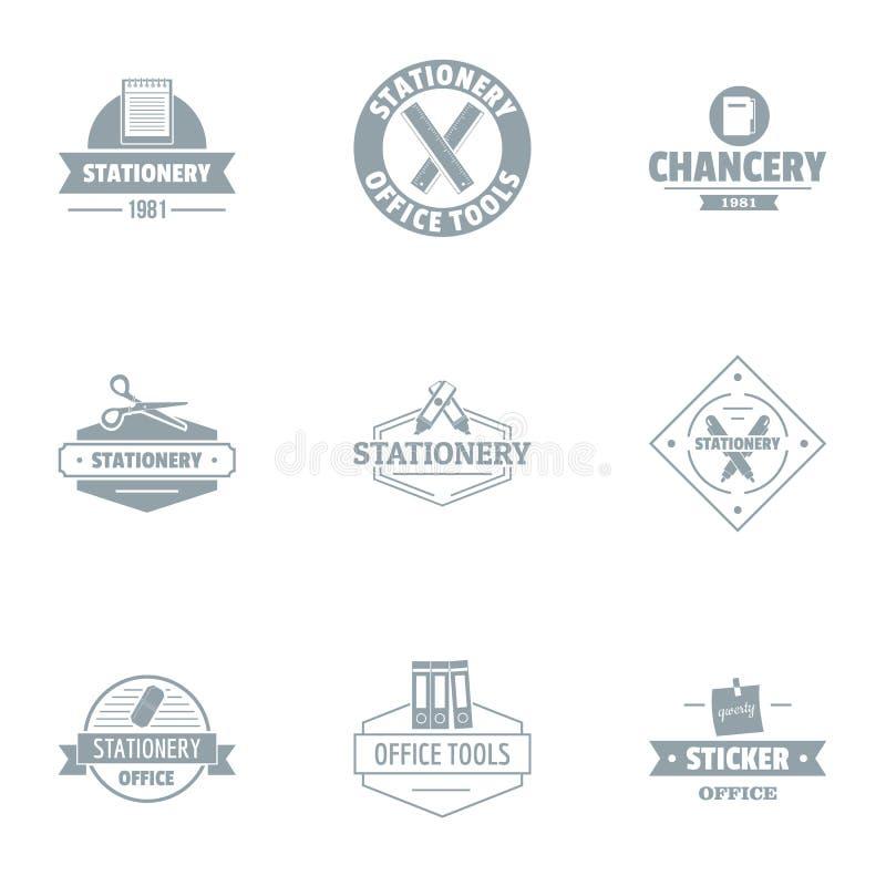 Grupo do logotipo da chancelaria, estilo simples ilustração royalty free