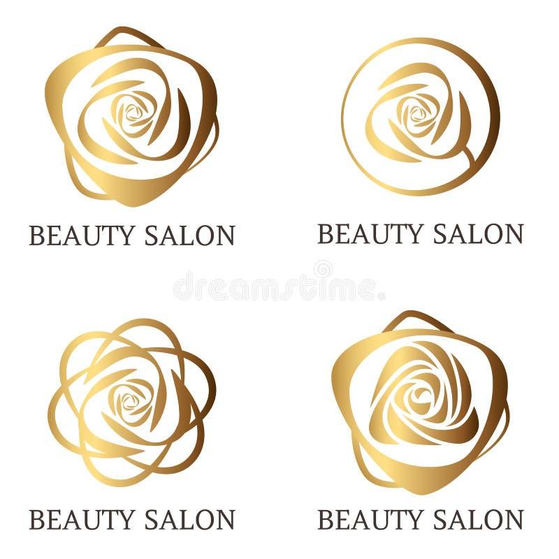 Grupo do logotipo da flor ilustração stock