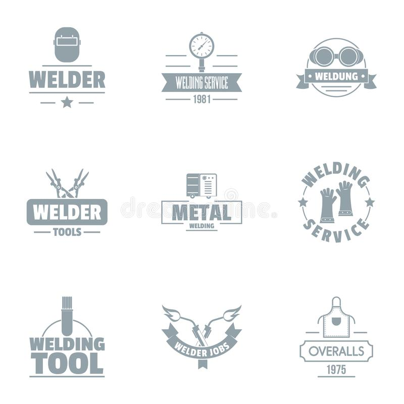 Grupo do logotipo da soldadura, estilo simples ilustração royalty free