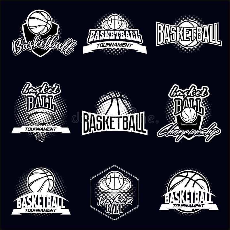 Grupo do logotipo de Streetball ilustração stock