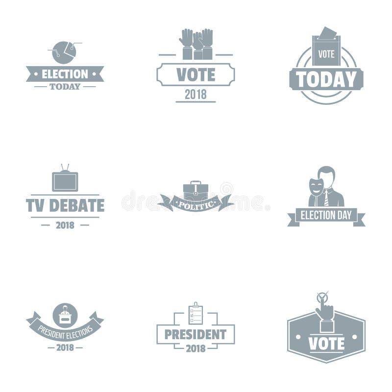Grupo do logotipo do debate, estilo simples ilustração royalty free