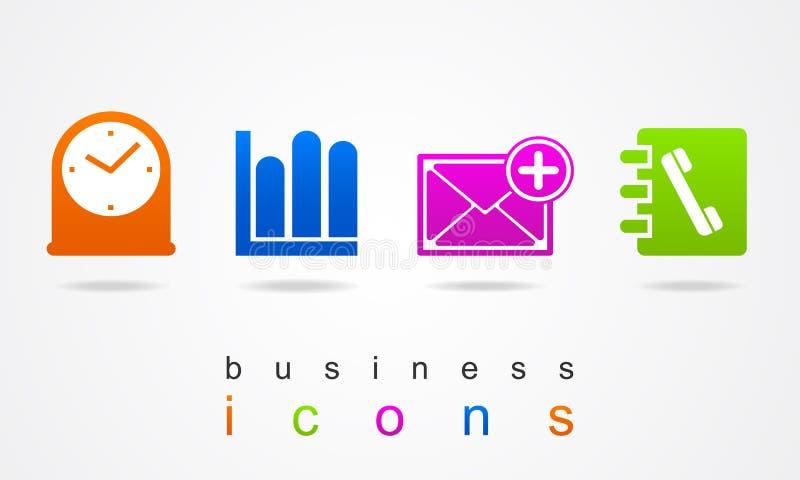 Grupo do logotipo do botão do sinal da Web do ícone do negócio ilustração do vetor