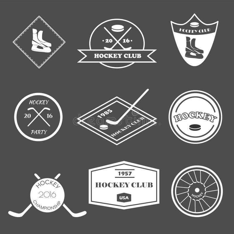 Grupo do logotipo do hóquei ilustração do vetor