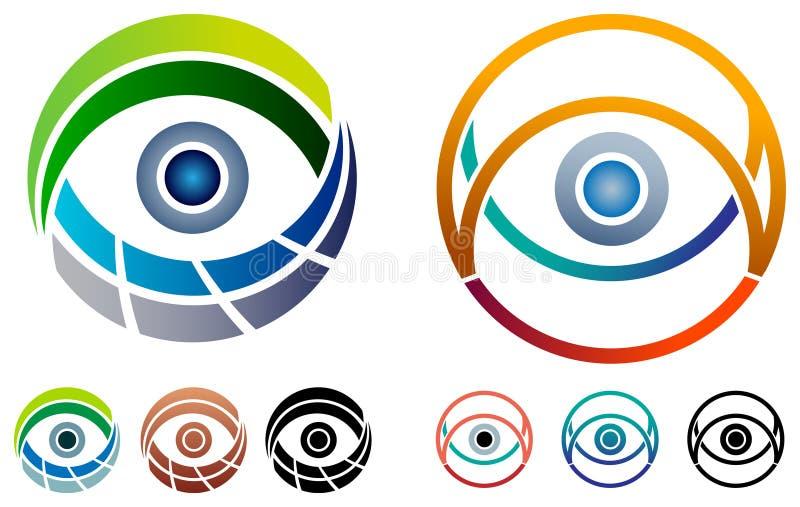 Grupo do logotipo do olho ilustração do vetor