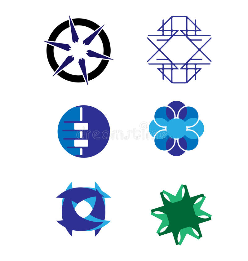 Grupo do logotipo do vetor ilustração do vetor