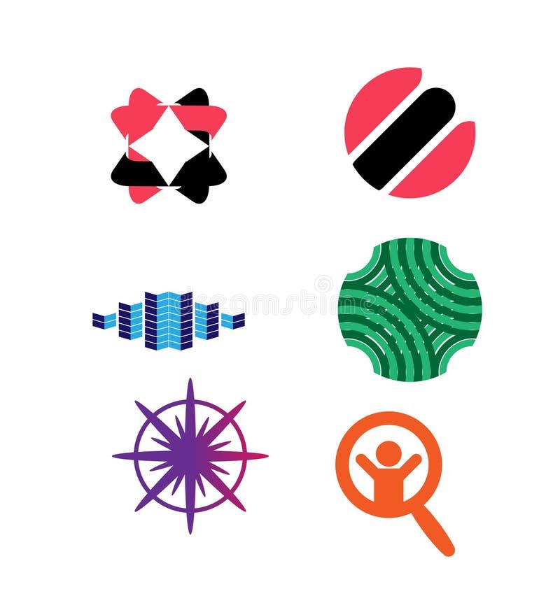 Grupo do logotipo do vetor ilustração royalty free