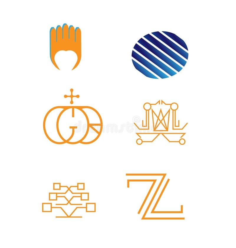 Grupo do logotipo do vetor ilustração stock