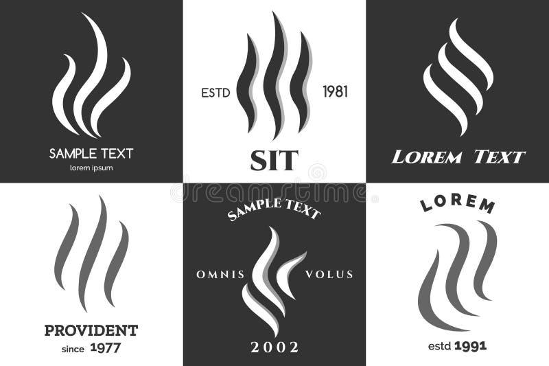 Grupo do logotipo do vapor ilustração stock