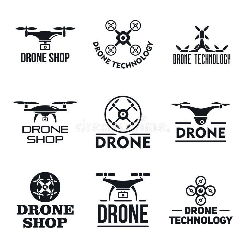 Grupo do logotipo do zangão, estilo simples ilustração royalty free