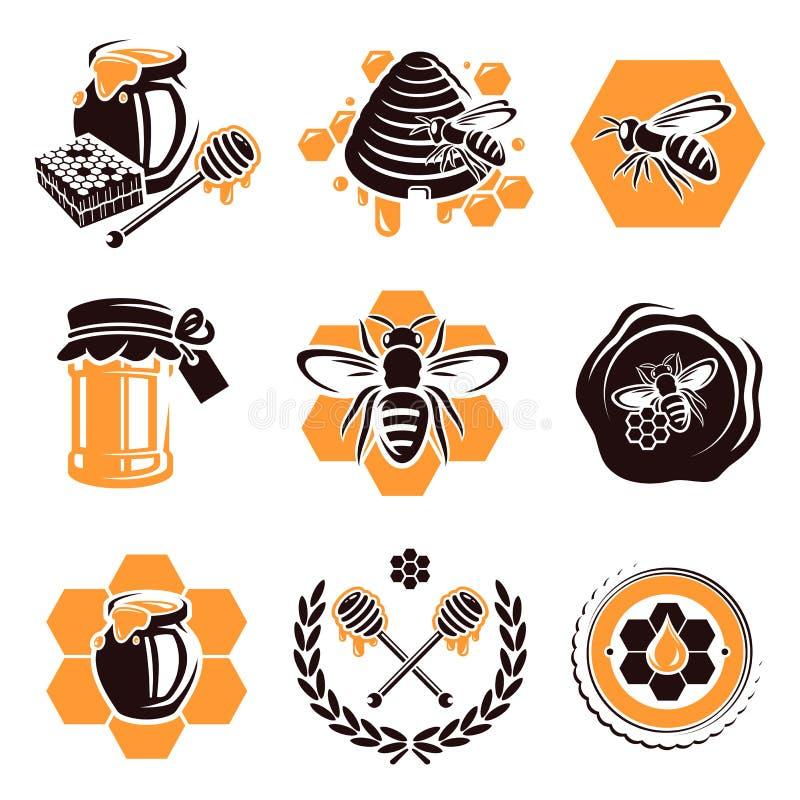 Grupo do mel. Vetor ilustração royalty free