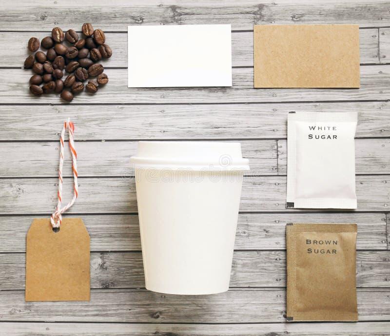 Grupo do modelo da identidade do café imagem de stock royalty free