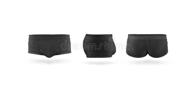 Grupo do modelo do roupa interior dos troncos dos homens negros vazios, isolado imagens de stock royalty free