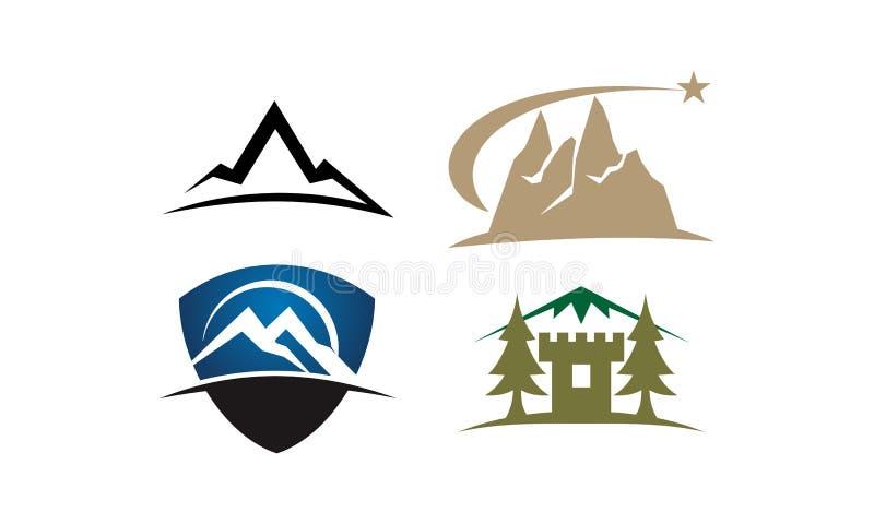 Grupo do molde da solução da montanha ilustração do vetor