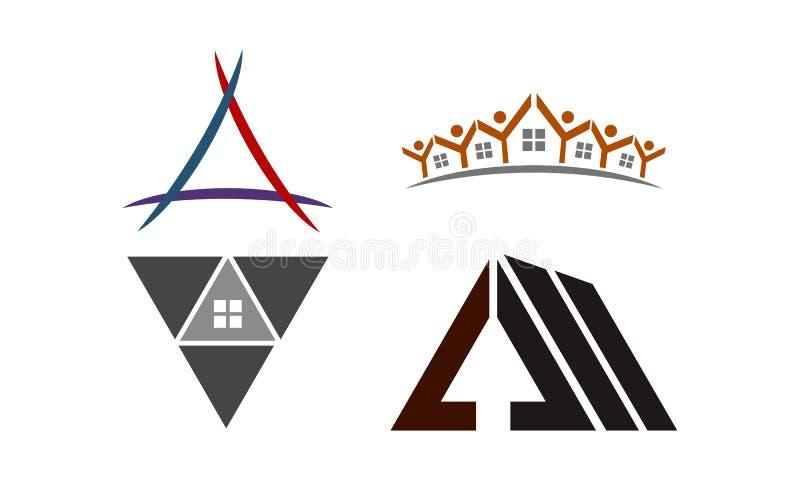 Grupo do molde de Real Estate ilustração royalty free