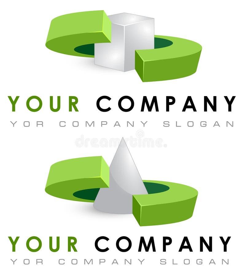 Grupo do molde do logotipo do vetor, formas geométricas ilustração royalty free