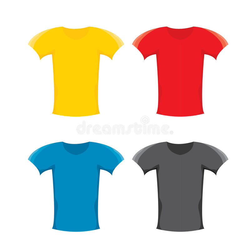 Grupo do molde do projeto do t-shirt da placa da cor do vetor ilustração stock