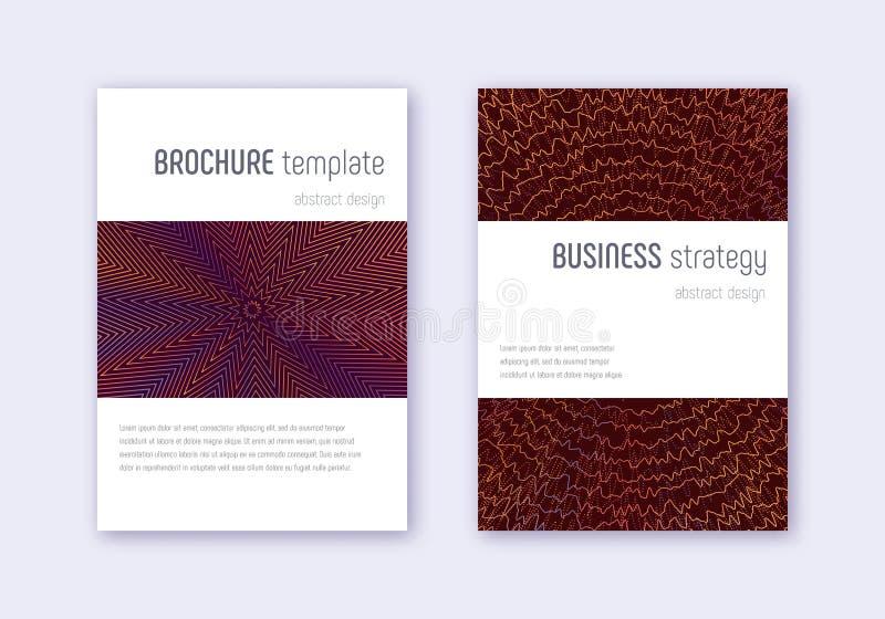 Grupo do molde do projeto da tampa de Minimalistic Abs alaranjado ilustração stock