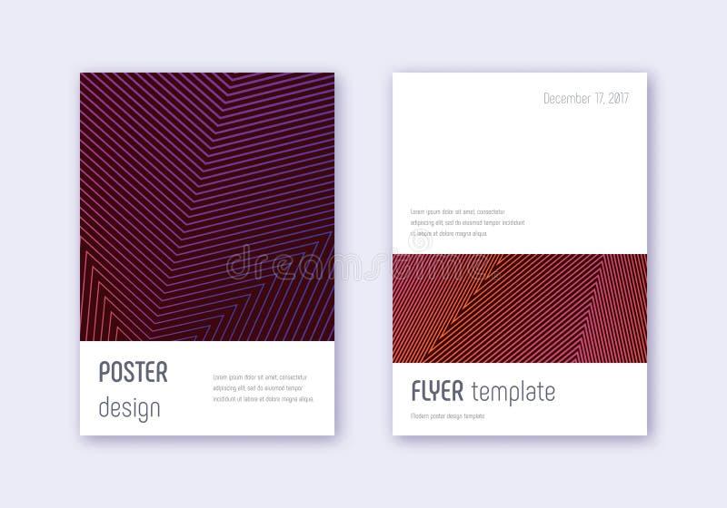 Grupo do molde do projeto da tampa de Minimalistic Abs violeta ilustração royalty free