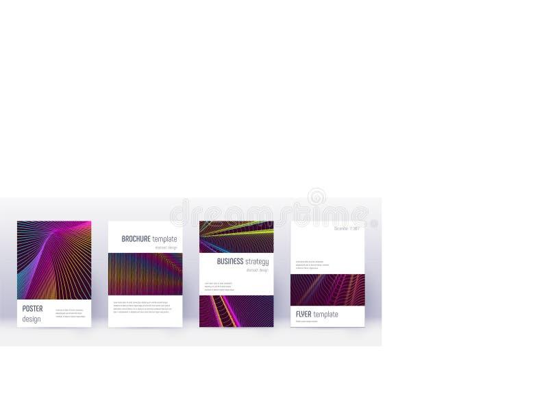 Grupo do molde do projeto do folheto de Minimalistic Arco-?ris ilustração stock