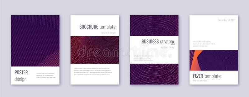 Grupo do molde do projeto do folheto de Minimalistic violeta ilustração stock
