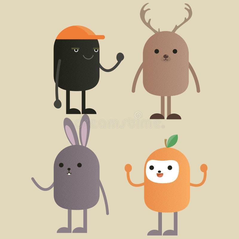Grupo do monstro do caráter ilustração royalty free