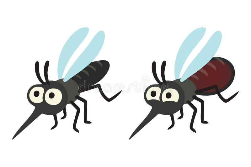 Grupo do mosquito dos desenhos animados ilustração do vetor