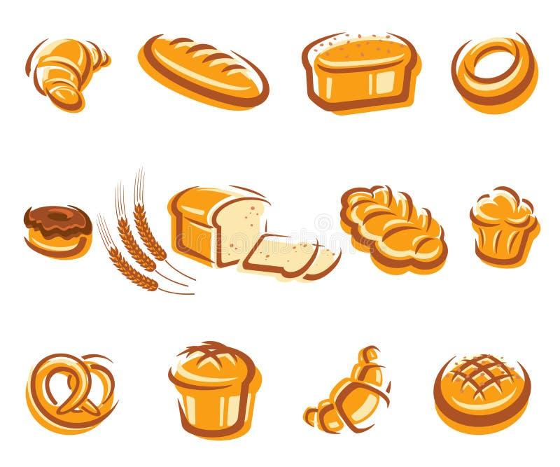Grupo do pão. Vetor ilustração do vetor
