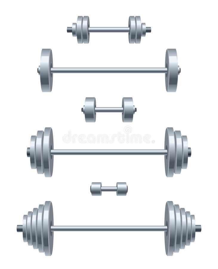 Grupo do peso ilustração do vetor