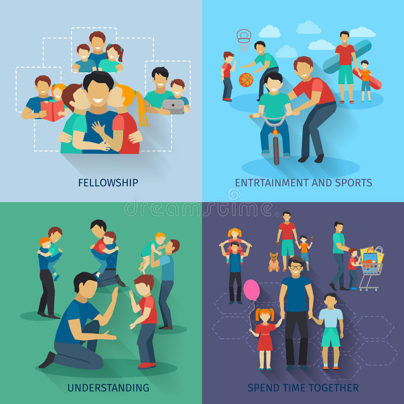 Grupo do plano da paternidade ilustração royalty free