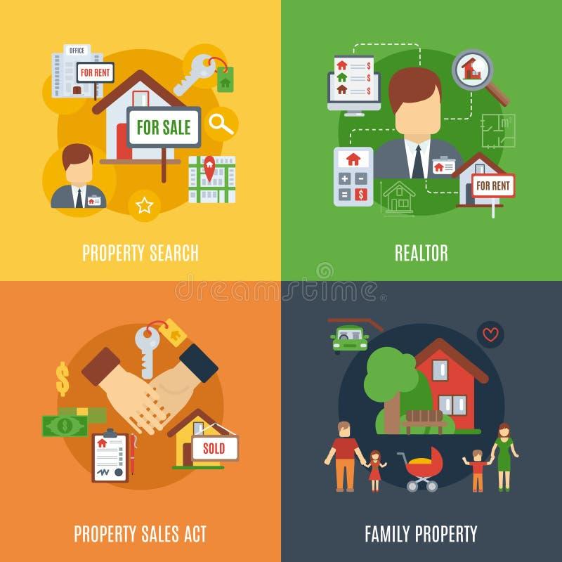 Grupo do plano de Real Estate ilustração stock