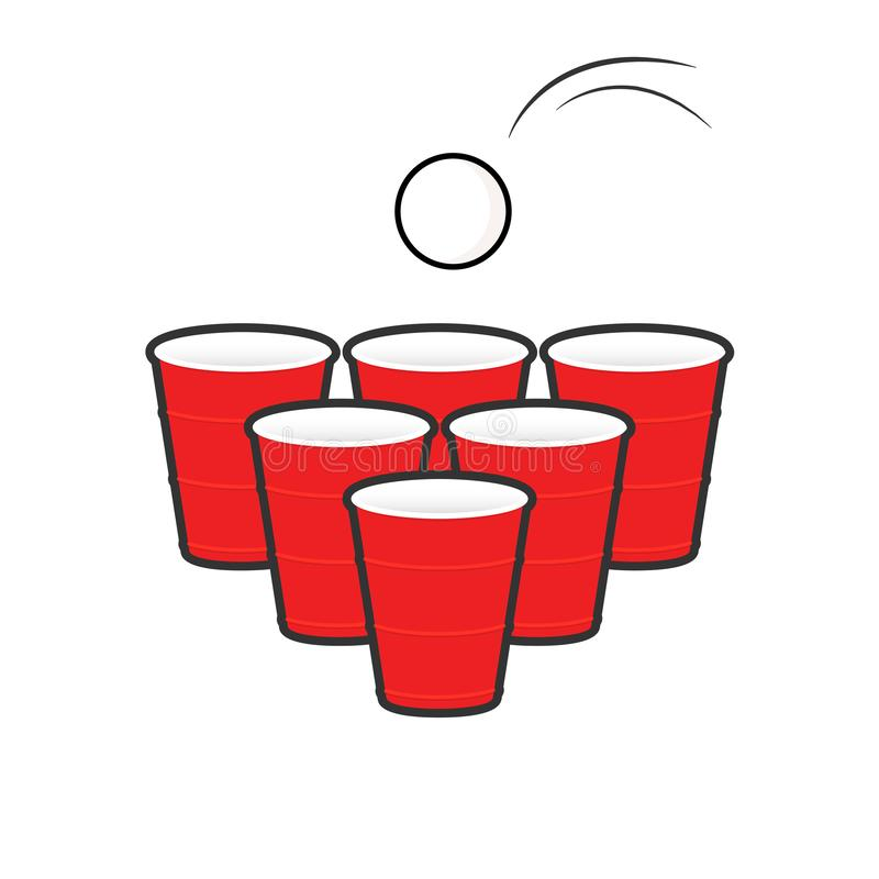 Grupo do pong da cerveja ilustração do vetor