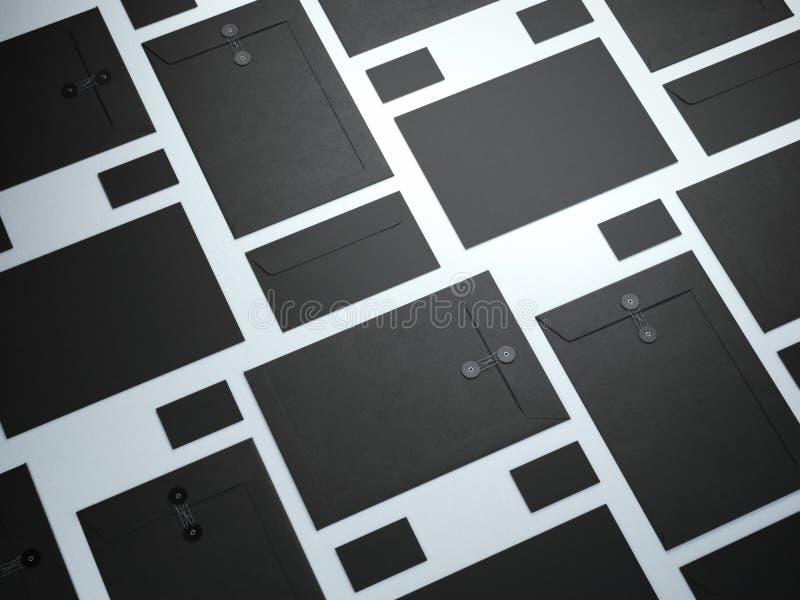 Grupo do preto de elementos de marcagem com ferro quente fotografia de stock royalty free