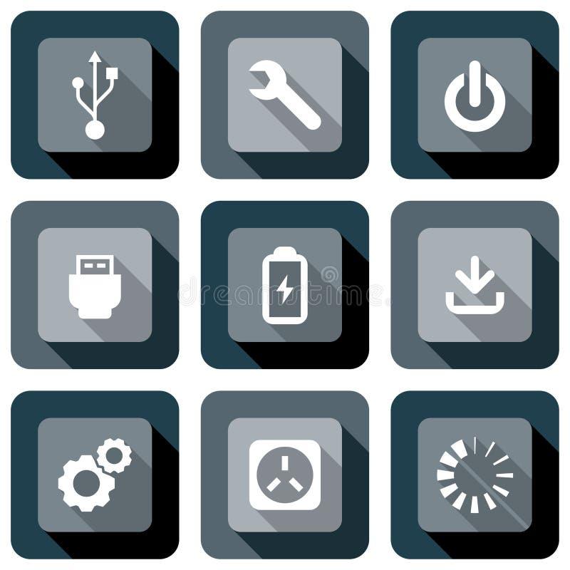 Grupo do projeto do ícone da informática  ilustração royalty free