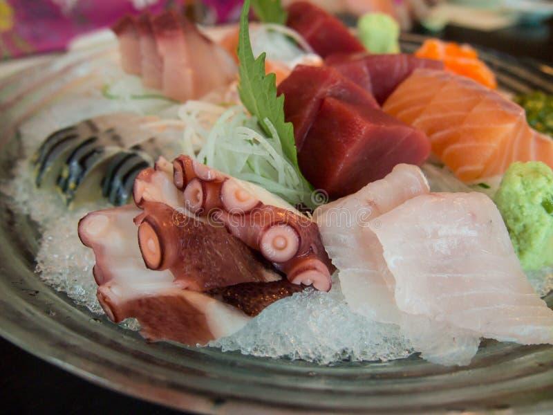 Grupo do Sashimi fotografia de stock royalty free