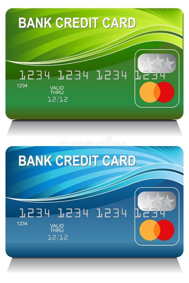 Grupo do teste padrão de onda da energia do cartão de crédito bancário ilustração royalty free