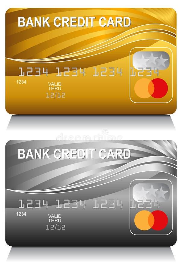 Grupo do teste padrão de onda da energia do cartão de crédito bancário ilustração stock