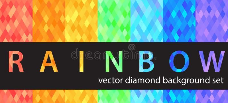 Grupo do teste padrão do diamante ilustração stock