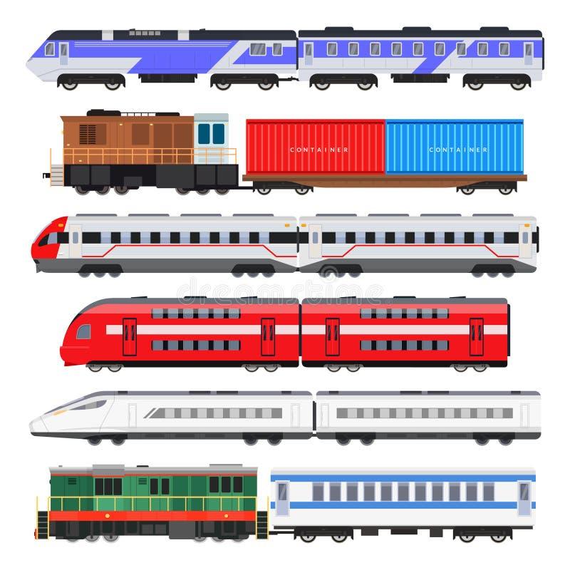 Grupo do trem de passageiros ilustração royalty free