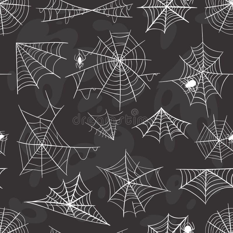 Grupo do vetor da silhueta da Web da decoração da celebração de Dia das Bruxas da aranha ilustração do vetor