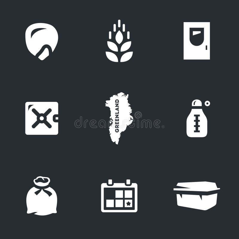 Grupo do vetor de ícones árticos do armazenamento da semente ilustração stock