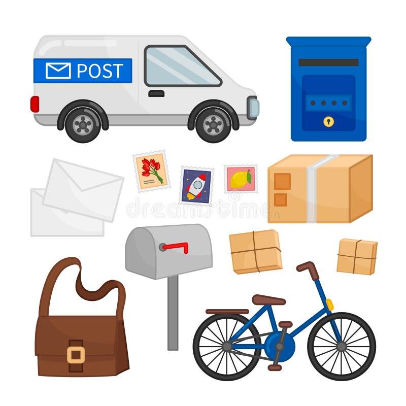 Grupo do vetor de ícones do correio ilustração royalty free