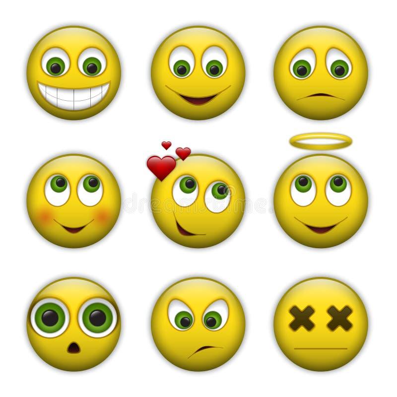 Grupo do vetor de ícones do sorriso ilustração stock