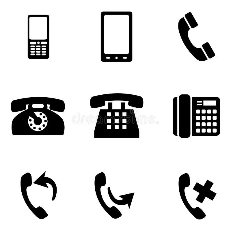Grupo do vetor de ícones do telefone ilustração do vetor