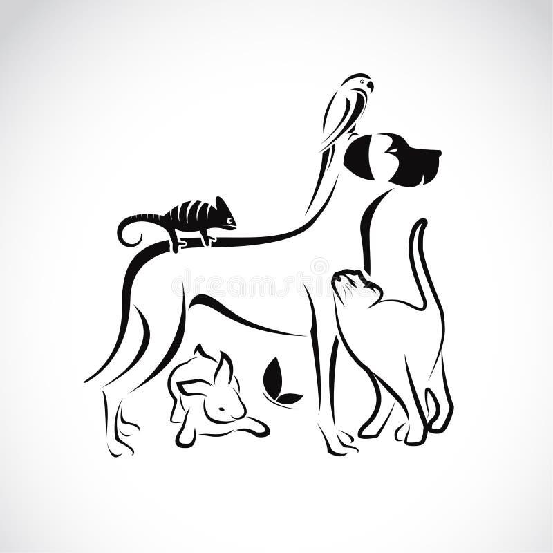 Grupo do vetor de animais de estimação ilustração royalty free