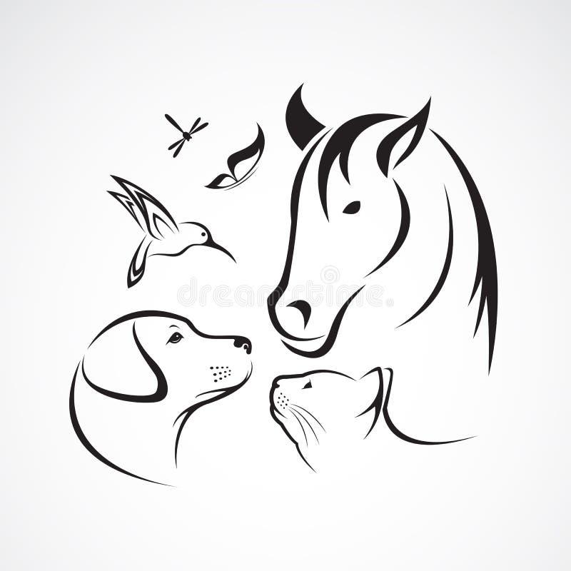 Grupo do vetor de animais de estimação ilustração do vetor