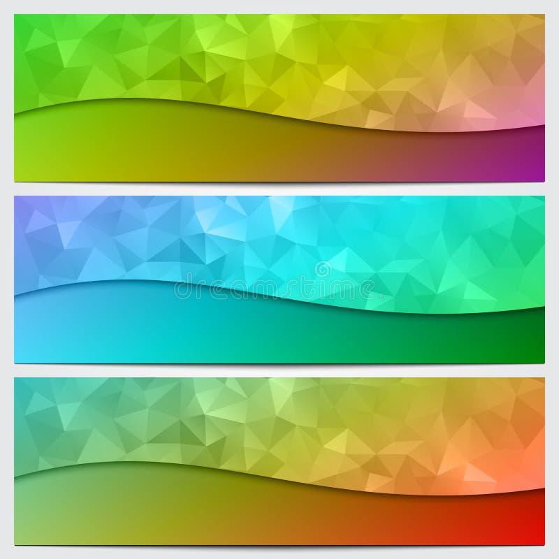 Grupo do vetor de bandeiras multicoloridos com sumário ilustração royalty free
