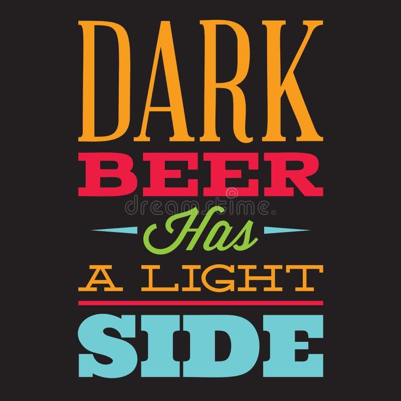 Grupo do vetor de cita??es estilizados no assunto da cerveja Texto da cor em um fundo preto ilustração do vetor
