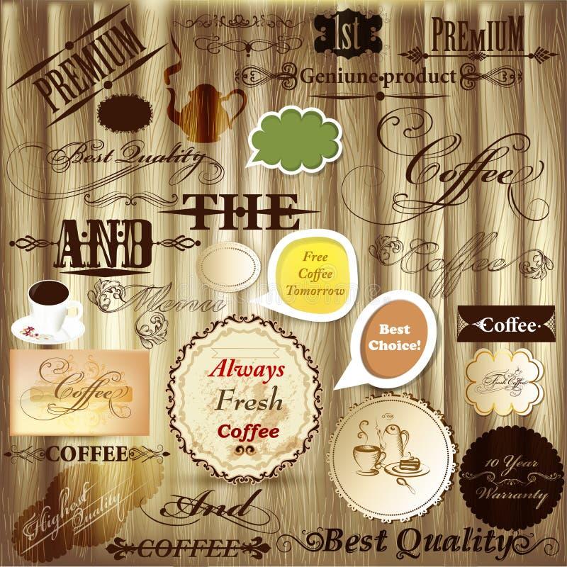 Grupo do vetor de elementos caligráficos do projeto, decorações da página e ilustração royalty free