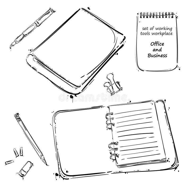 Grupo do vetor de ferramentas Isolado no fundo branco ilustração do vetor