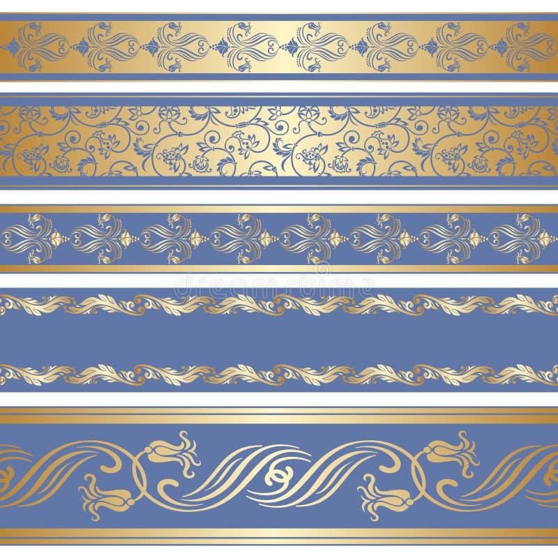 Grupo do vetor de fita decorativa ilustração stock